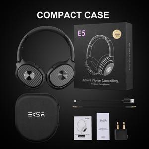 Image 5 - EKSA E5 Bluetooth 5.0 Hoạt Động Loại Bỏ Tiếng Ồn Tai Nghe 920MAH Không Dây Tai Nghe Có Mic Dành Cho Điện Thoại Có Thể Gập Lại Quá tai Nghe Nhét Tai