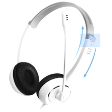 Wired Headset with Mic Stereo Gaming Headphone for PC Computer Listening Comprehension Training GV99