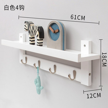 Wall Shelf Wood Clothes Rack Organizer Towel Bamboo Furniture Wood Coat Hook Rack Living Room Hanger Key Cap Bag Holder Shelf