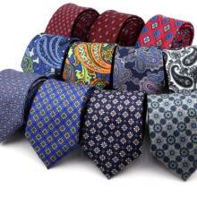 Seda toque vintage gravata impressão 7cm luxo floral gravata xadrez dot paisley cravat banquete terno smoking presente para homem diário acessório