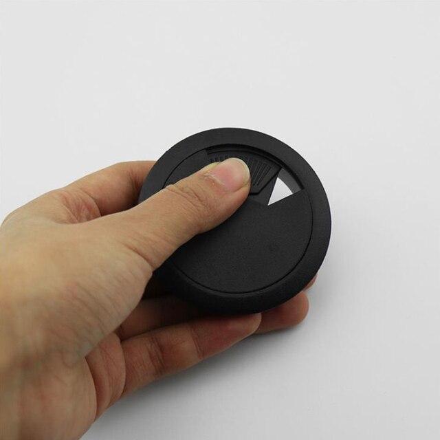 1Pcs Bureau Draad Gat Cover Basis Computer Grommet Tafel Kabel Outlet Poort Oppervlak Lijn Doos Meubels Hardwar