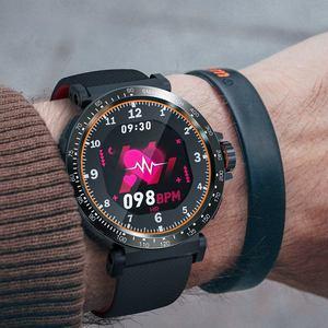 Image 4 - BlitzWolf BW AT1 Dello Schermo di Tocco Pieno Dymanic UI Display della Frequenza Cardiaca Misuratore di Pressione Sanguigna Monitor di Ossigeno Meteo Push Smart Watch Nero