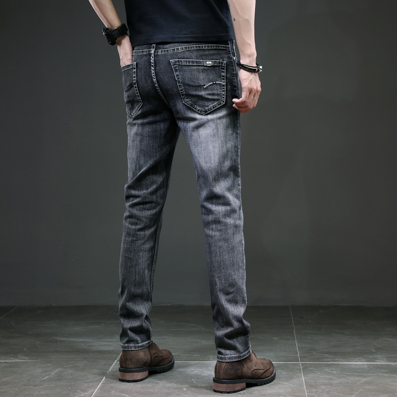 KSTUN Men's Jeans Regular Cut Business Casual Straight Fit Dark Gray Stretch Jeans for Men Good Quality Male Trousers Homme 40 17
