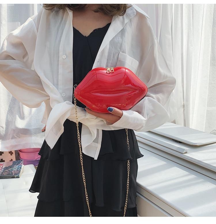 Купить распродажа 2020 сумки в форме губ женская сумка через плечо