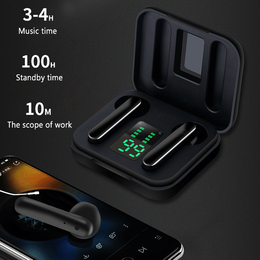 <font><b>TWS</b></font> Bluetoooth <font><b>5.0</b></font> Wireless Earbuds Mini in-Ear Digital Display Headphones Sport Hi-Fi Stereo Bluetooth Earphones 450m HD Call image