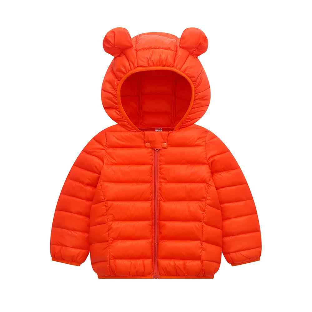 Winter Warme Baby Junge Mädchen Oberbekleidung Mantel Casual Ohr Hoodie Design Zipper Kinder Mantel Outfits Tops