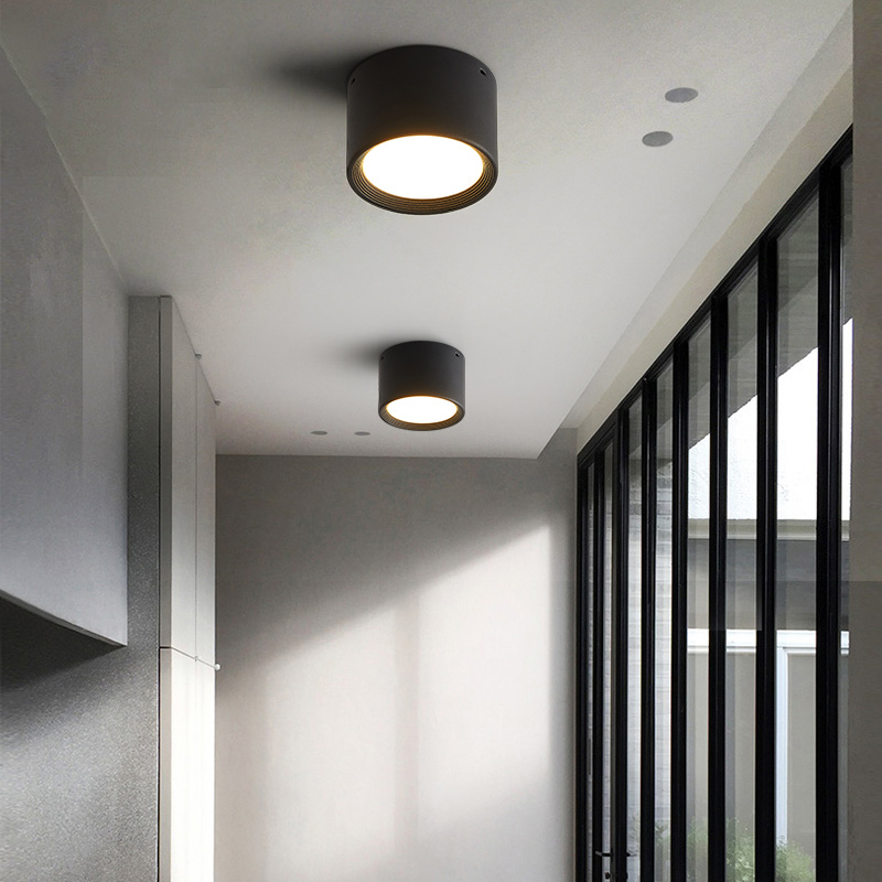 Black And White Ash Extremely Simple Wind And Light Clothing Downlight Household Aisle Lamp Avoid Open Korkroom High Light