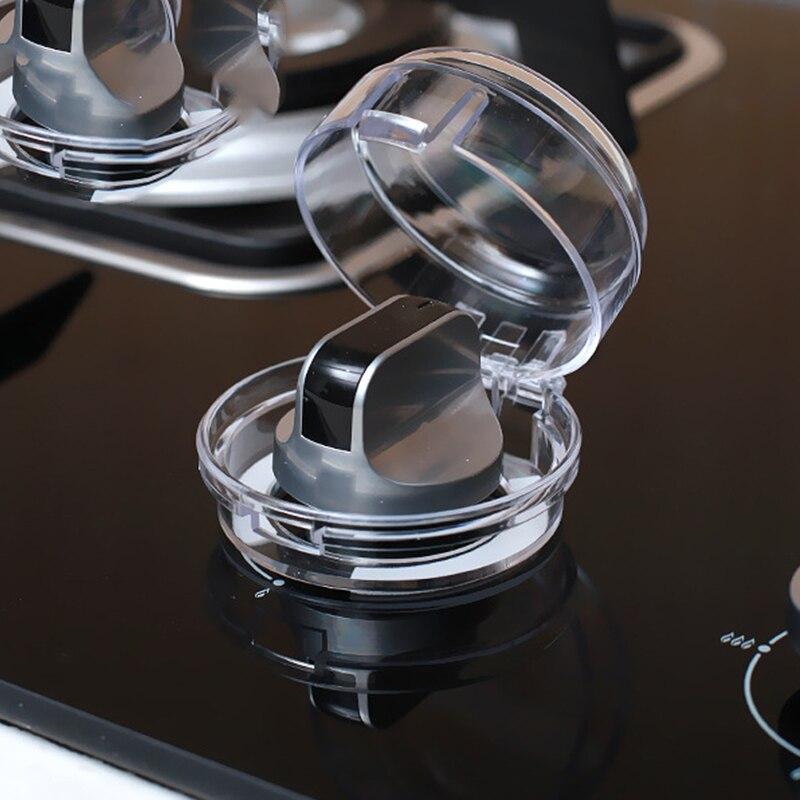 2 шт./партия, прозрачная ручка газа для кухонной плиты, защитные крышки для газа, защитные замки для детей, креативный переключатель, полупрозрачная Защитная крышка