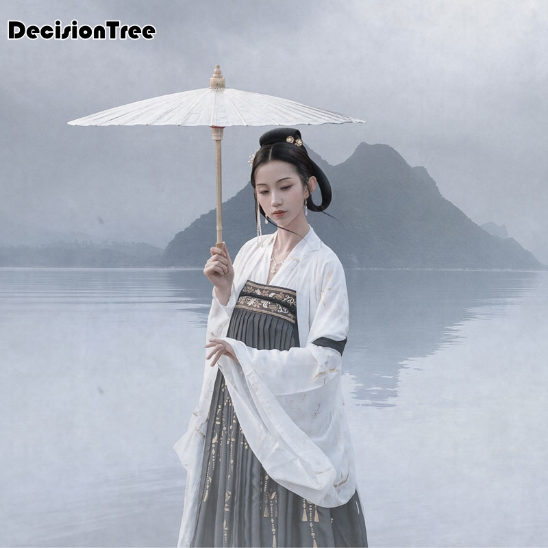 2020 Women's Chinese Classical Style Dance Elegant Fresh Hanfu Wide Sleeved Flow Fairy Chinese Dress Performance Clothing