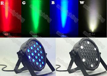 Slim flat RGBW led par light 54pcs Led Par Can DMX Lighting Stage DJ led effect dj light christmas projector disco led light