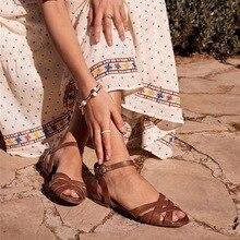 HEFLASHOR New Women Sandals Fashion Summer Women Shoes Roman Beach Flat Casual Sandals Leisure Female Ladies Sandals Women