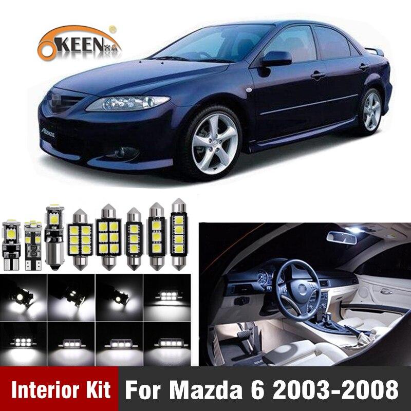 10Pcs Canbus Led Bulb Car Interior Light Kit For Mazda 6 2003 2004 2005 2006 2007 2008 Led Interior Dome Map Trunk Lights