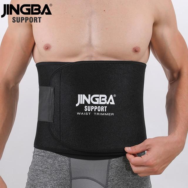 JINGBA SUPPORT Neoprene sport Waist belt Support Body Shaper Waist Trainer Loss Fitness Sweat belt Slimming Strap waist trimmer 3