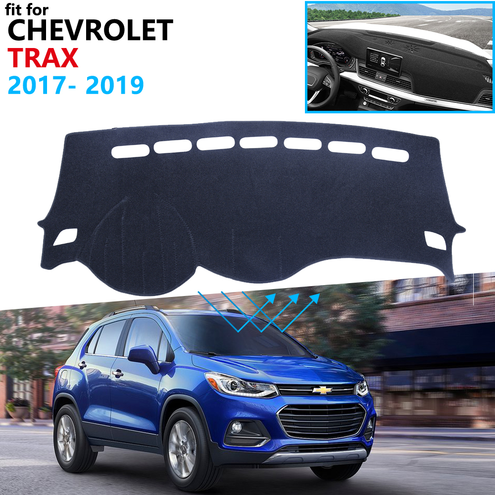 Dashboard Cover Protective Pad For Chevrolet Trax Tracker Holden 2017 2018 2019 Car Accessories Dash Board Sunshade Carpet Rug