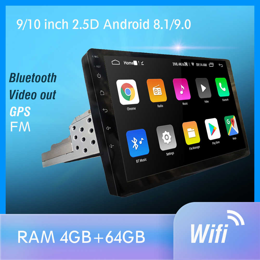 1 Din Android 9.0 PX6 Mobil Radio Stereo GPS Navi Anda Audio DSP 4G Wifi BT HDMI Carplay TV OBD SWC Dab + 4G + 64G