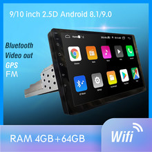 1 din android 9.0 px6 rádio do carro estéreo gps navi áudio player de vídeo dsp 4g wifi bt hdmi carplay tv obd swc dab + 4g + 64g(China)