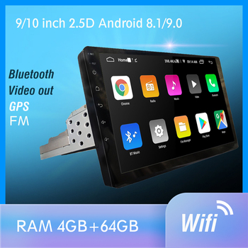 1 din Android 9.0 PX6 Car Radio Stereo GPS Navi Audio Video Player DSP 4G Wifi BT HDMI Carplay TV OBD SWC dab+ 4G+64G