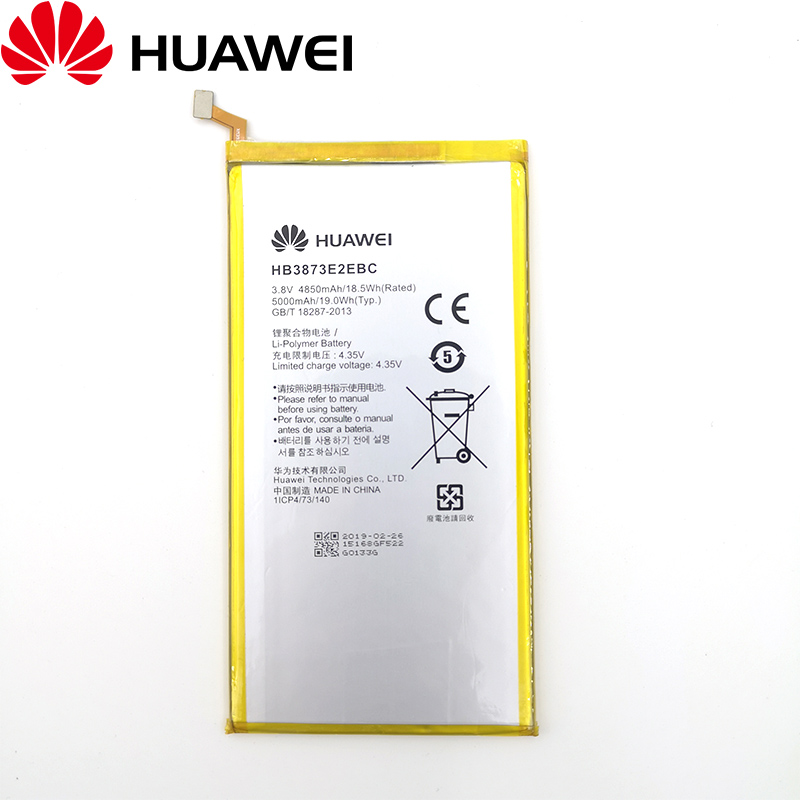 100% Original HB3873E2EBC 5000mAh Battery For Huawei Mediapad X1 X2 7.0