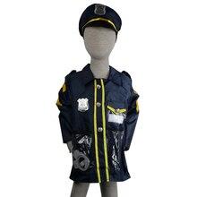 5 шт., детская полицейская форма, костюмы для косплея, водонепроницаемые Вечерние платья на Хэллоуин, куртка для маленьких мальчиков с шапкой, игрушки, одежда для полицейских