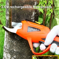 3.6V Electric Scissor Portable Garden Pruning Shears for Orchard Home Gardening Fruit Tree Potted Greening Cordless Pruning Tool