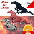 Автомобильный стиль 3D металлический Мустанг Лошадь передний капот решетка эмблема наклейки на автомобиль бегущая лошадь наклейка для Ford ...