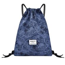 Fashion Unisex Men Women Oxford Bag Outdoor Fitness Drawstring Beam Mouth Backpack Travel for Teenage mochila
