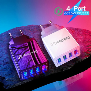 "Image 5 - 48W מהיר מטען 3.0 USB מטען עבור סמסונג A50 A30 iPhone 7 8 Xiaomi mi9 Tablet QC 3.0 מהיר קיר מטען ארה""ב האיחוד האירופי בבריטניה Plug Adapte"