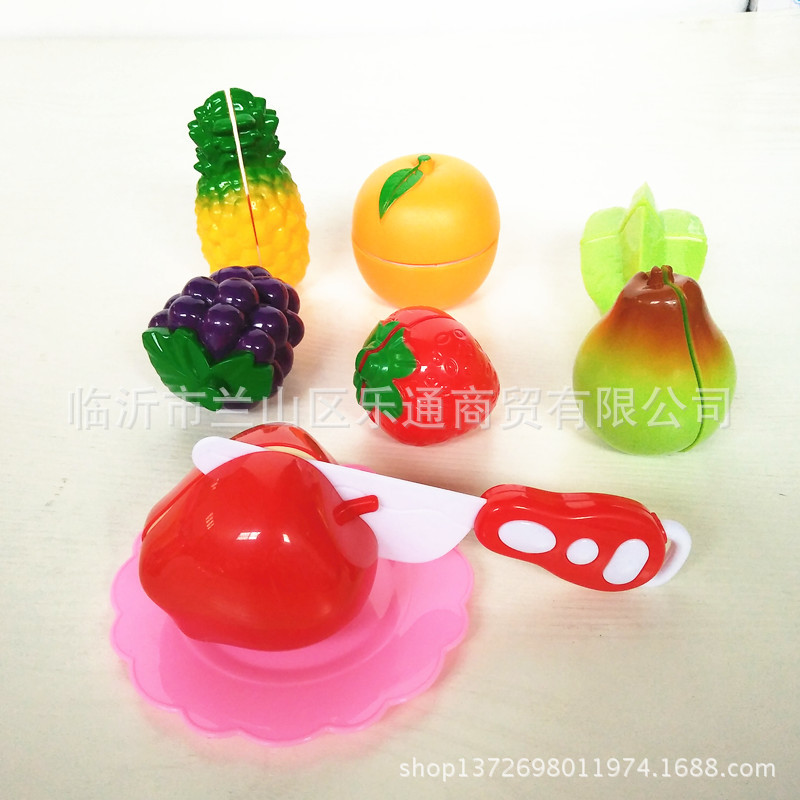 9 Pieces Cut Fruit Toy Slicer Set Play House Can Cut Fruit & Vegetable Toy Cutting Up Vegetables Cut The Watermelon