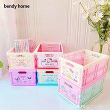 Foldable Cosmetic Toy Storage Bins Square Cartoon Animal Storage Box Eco-Friendly Plastic Storage Cubes Organizer for Bedroom