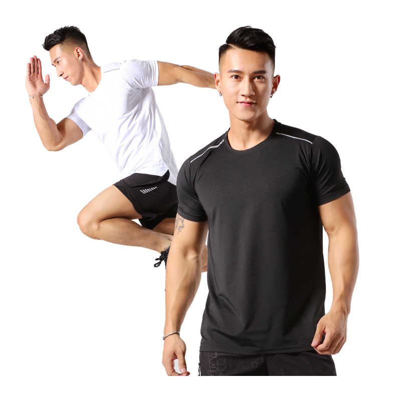 Outto Mens Fitness V-Neck Short Sleeve Quick Dry Running T-Shirt Top