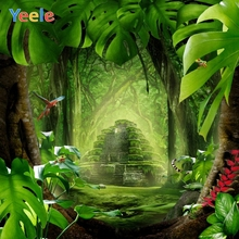 Green Screen Castle Dreamy Forest Backdrop Newborn Baby Shower Photography Background For Photo Studio Photocall Photophone