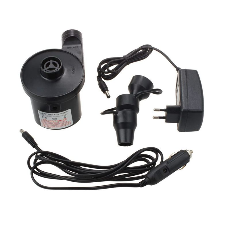 Electric Air Pump Electric Pump Include 3 Attachments For Air Mattresses, Inflatable Swimming Animals Or Automatic Camping And F