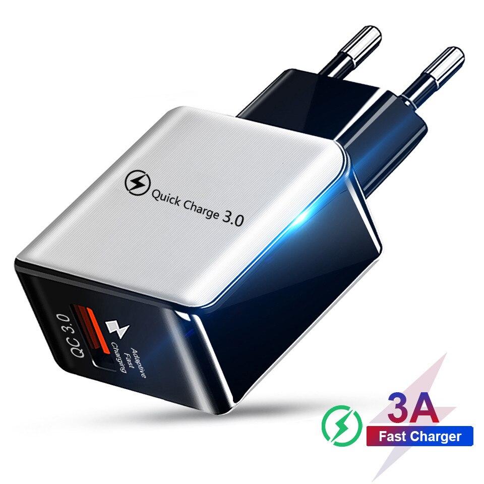 Быстрая зарядка 3,0 4,0 USB зарядное устройство Универсальный 5В 3а Быстрая Зарядка адаптер для Samsung S10 Xiaomi Huawei планшет зарядное устройство для мо...