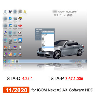 11/2020 for bmw ICOM Next ICOM A3 ICOM A2 Software HDD ISTA-D ISTA-P Win7 System 500GB Hard Disk /512GB SSD 2018 for bmw icom a2 rheingold software hdd installed on x201 touch screen laptop plug and play