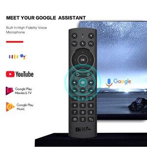 Image 4 - G20S PRO 2.4G kablosuz akıllı ses arkadan aydınlatmalı hava fare jiroskop IR öğrenme Google asistan uzaktan kumanda Android TV kutusu