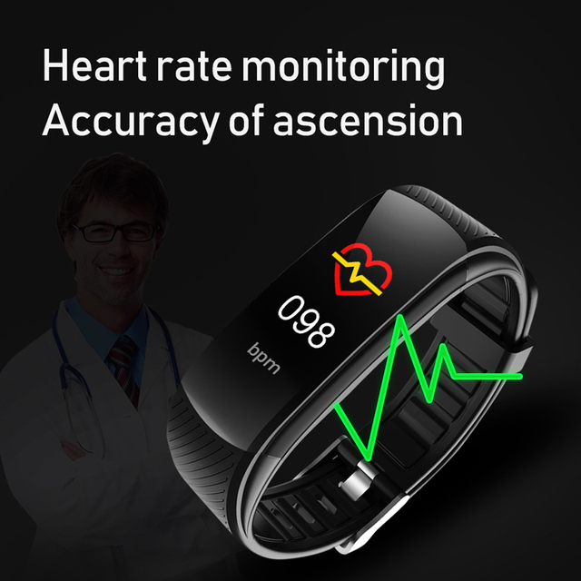 Sport Fitness Bracelet Waterproof  Fitness Tracker Blood Pressure Heart Rate Monitor Smart Band Watch For Android IOS Phone 5
