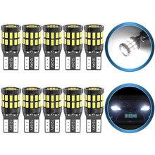 10x t10 w5w lâmpadas canbus led 168 194 luzes de estacionamento do carro para ford mondeo mk3 mk4 foco fiesta fusão ranger c-max s-max kuga f150