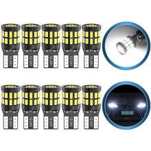 Ampoules de stationnement pour voitures, 10x T10 W5W LED Canbus, 168 194, pour Ford Mondeo MK3 MK4 Focus Fiesta Fusion Ranger c max s max Kuga F150