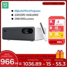 Xiaomi Mijia ALPD3.0 לייזר מקרן 2400 ANSI Lumens רזולוציה 150 אינץ מסך Wifi bluetooth הכפול 10W רמקול
