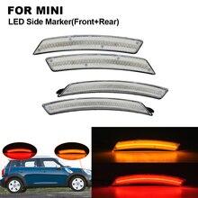 цена на Clear LED Car Side Marker Lamp Light For MINI R56 R55 R57 R58 R59 R60 R61 2X Front Side Marker(Amber) 2X Rear Side Marker (Red)