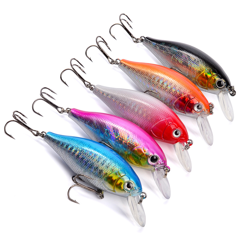 Mini Crankbait Fishing Lures Topwater Artificial Minnow Wobblers 5pcs 3.6cm 3.6g