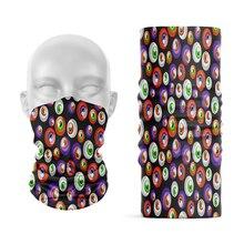 Creative Stacked Dense Pattern Headscarf Funny Plum Love Seal Dustproof Headband Cycling Wristband Women Handkerchief Headwear