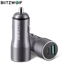 BlitzWolf BW SD4 36W USB Type C PD Quick Charge QC3.0 Mini 2 Ports Car Charger For iPhone 12 Pro Max Xiaomi 9 Pocophone F1 S10