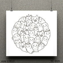 AZSG Lovely Ghost Clear Stamps/seal for DIY Scrapbooking/Card Making/Photo Album Decoration Supplies