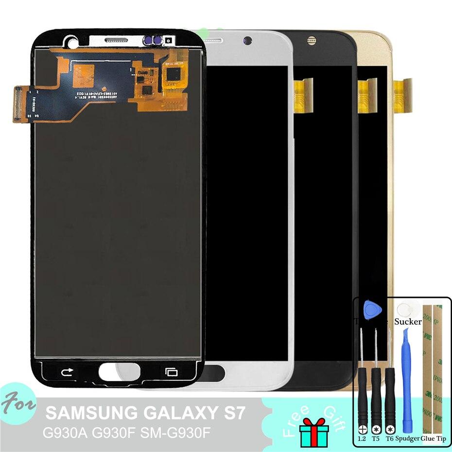 LCD pour SAMSUNG GALAXY S7 G930A G930F SM-G930F écran tactile numériseur assemblée
