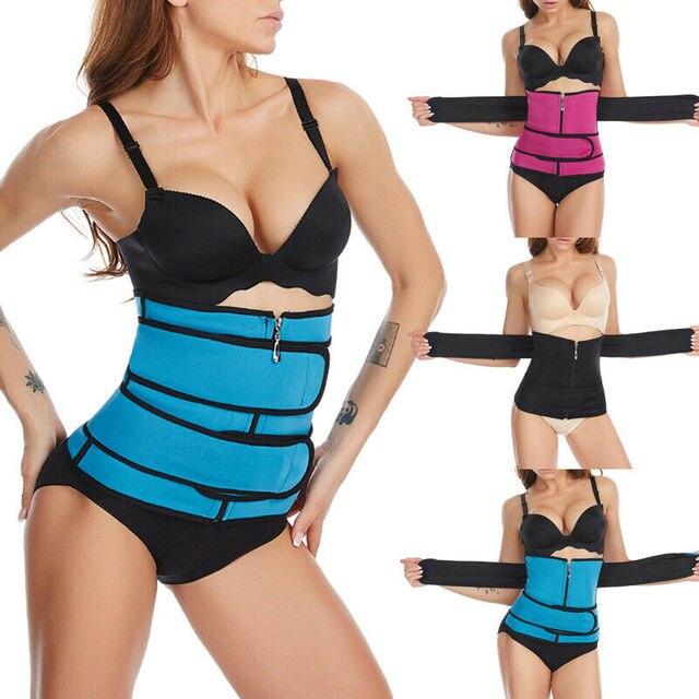 New Fashion Women Waist Trainer Vest Gym Slimming Adjustable Sauna Sweat Belt Body Shaper 2