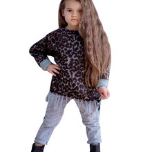 Baby girls clothing 2019 winter Full Sleeve leopard print tassel shirt cotton pant 4t girl thanksgiving outfit sets D20