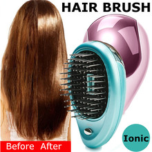 Mini Hair Comb Electric Massage Brush Porable Ionic For  Take Out Anti -Static Girls