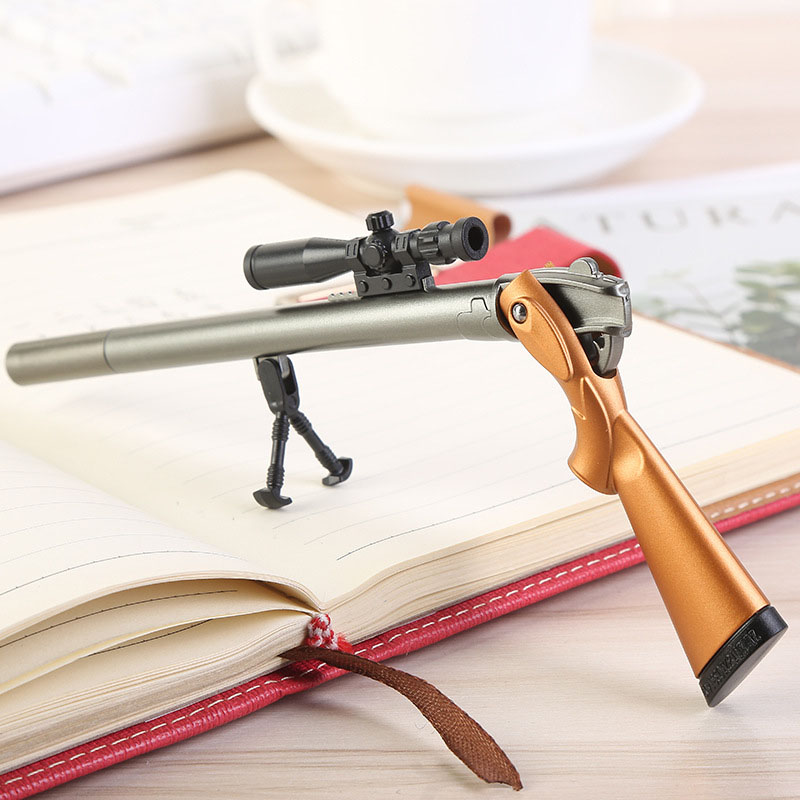 1 Pcs Creative Plastic Rifle Gun Shape Gel Pen Weapons Pen Kids Gift Toys Korean School Supplies Black Refill 0.5mm Stationery