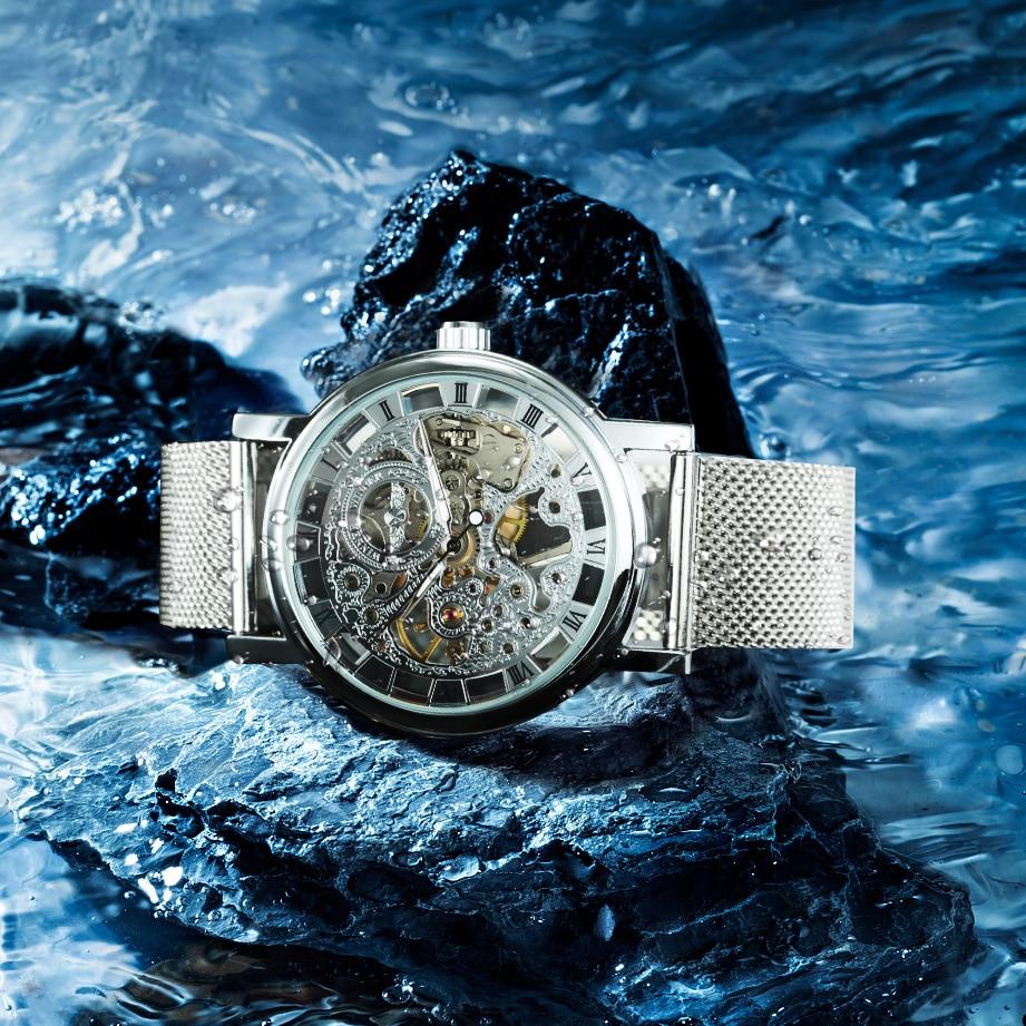 Image 3 - WINNER Official Fashion Women Watches Ultra Thin Mesh Strap Top Brand Luxury Skeleton Mechanical Elegant Ladies Wristwatch GirlsWomens Watches   -